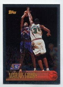 1996-97-Topps-MARCUS-CAMBY-Rookie-Card-RC-50TH-FOIL-PARALLEL-161-Toronto-Raptors