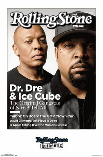 DR DRE & ICE CUBE - ROLLING STONE COVER POSTER - 22x34 RAP HIP HOP NWA 14467