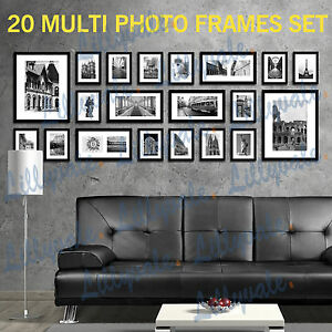 image is loading large multi picture photo frames wall set 20pcs