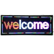 Led Sign 40 X 15 Outdoor Scroll Message Board Scrolling 3 Color Us Fast Ship