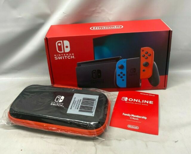 Nintendo Switch 32GB Neon Red/Neon Blue Console w/ Case Joy Cons - BRAND NEW