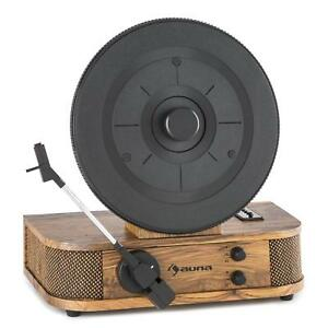 Giradischi Vintage Altoparlanti Integrati Mangiavinile Verticale USB MP3 Retrò