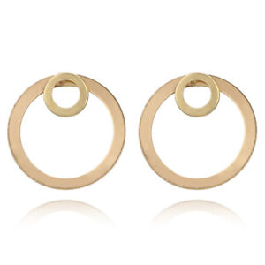 087bc1a8aa1d68 Details about Girl Simple Circle Round Ear Studs Earring Minimalist Gold  Earrings Jewelry New