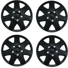 "Tempest Black 15"" Car Wheel Trims Hub Caps Plastic Covers Universal (4Pcs)"