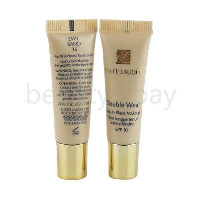Lot 2x Estee Lauder Double Wear Stay in Place Makeup SPF10 7ml/.24oz ea 2W1 Sand