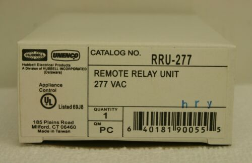 HUBBELL RRU-277 Remote Relay Unit 277 VAC  **NEW in Box**
