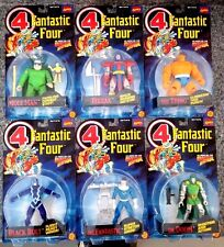 1994 TOY BIZ FANTASTIC FOUR ACTION 6 FIGURE LOT THING DR DOOM BLACK BOLT R45