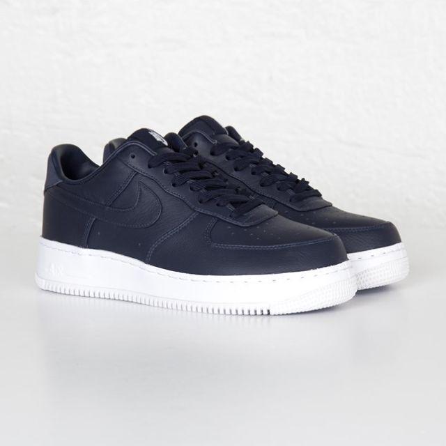 Nike Nikelab Lab Air Force One 1 Low Obsidian BlueWhite 555106 401 Navy Premium