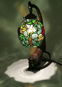 Cat Art Stained Glass Table Desk Lamp Night Light eyes ...