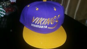 31c4d310d Minnesota Vikings NFL Mitchell & Ness Arch/Logo Snapback,Hat,Cat   eBay