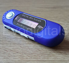 BLUE EVO 4GB MP3 WMA USB MUSIC PLAYER WITH LCD SCREEN FM RADIO VOICE RECORDER +
