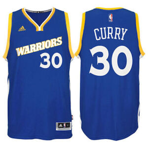 outlet store 92d33 cb9ca Details about Stephen CURRY Golden State Warriors Adidas Blue Swingman Blue  Jersey Large NWT