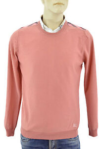550-BURBERRY-BRIT-carreaux-roses-100-Laine-Homme-Pull-Taille-M-Nouvelle-collection