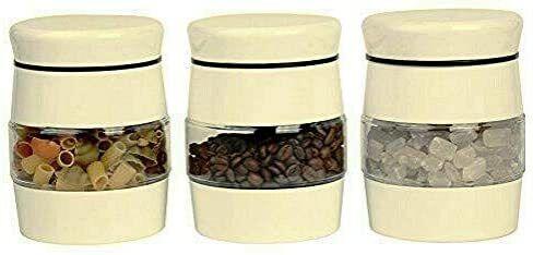 3 Pc Glass Tea Coffee Sugar Storage Jars Set Multipurpose Canisters Set