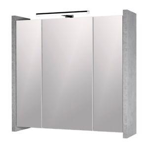 Spiegelschrank Badezimmer LED-Beleuchtung 3 Spiegeltüren mit Soft ...
