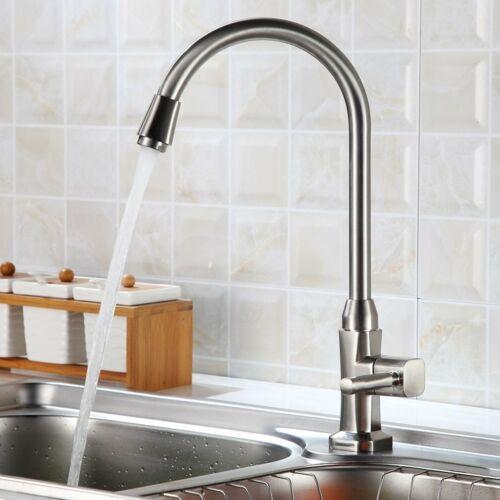 360° Küchenarmatur Wasserhahn für Kaltwasser Einhebelmischer Spültischarmatur