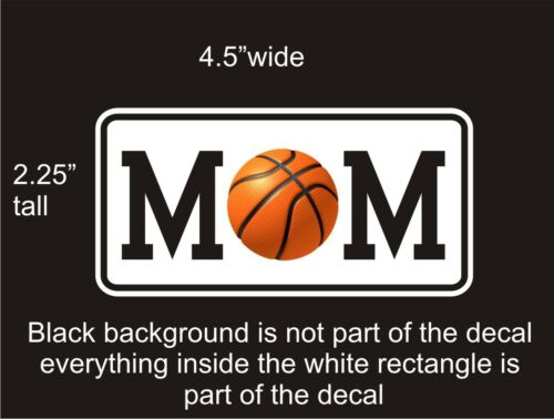 Basketball Mom car vinyl decal great stocking stuffer bumper sticker NEW