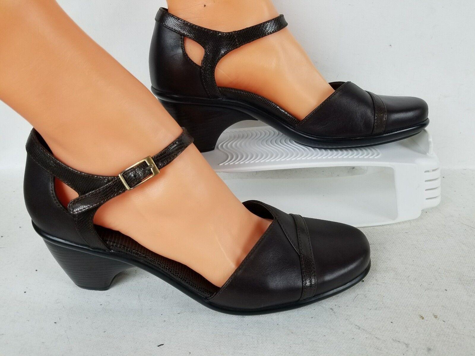 Para mujer Dansko Mary Jane comodidad marrón cuero trabajo zapatos talla 40 EE. UU. 10
