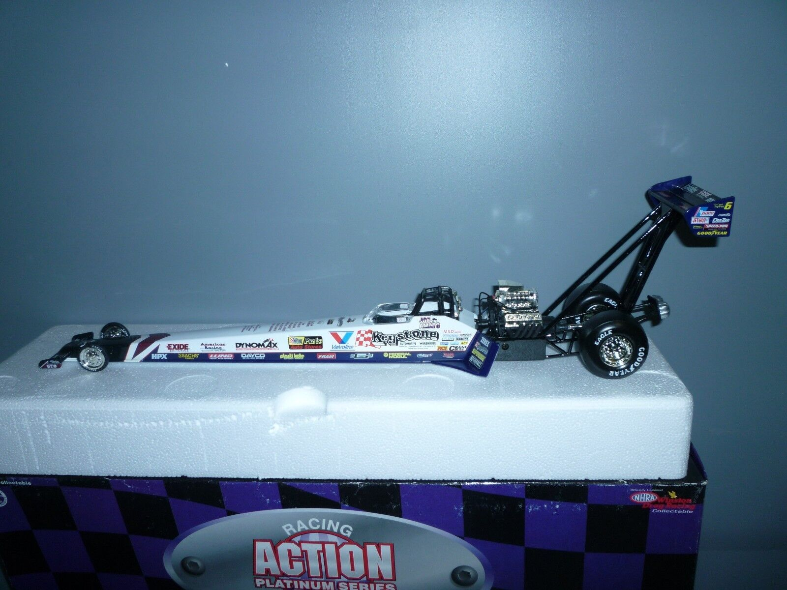 JOE AMATO     1997 KEYSTONE, 1 24 SCALE DIE CAST NHRA TOP FUEL DRAGSTER.
