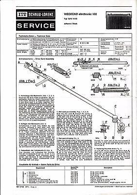 Service Manual Manual for Itt Schaub-Lorenz Touring International 103,5215 14