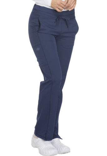 Navy Blue Dickies Scrubs Dynamix Mid Rise Straight Leg Drawstring Pant DK130 NAV
