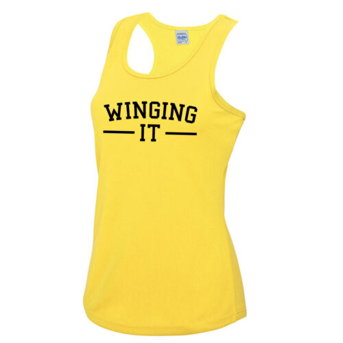 Winging It Girls Vest Tee Top JC015 Fitness Gym Pilates