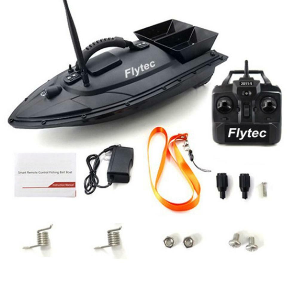 2011-5 Flytec Fishing strumento SMART  RC Boat giocattolo DUAL MOTORE Fish Finder FISH Boir  risposta prima volta
