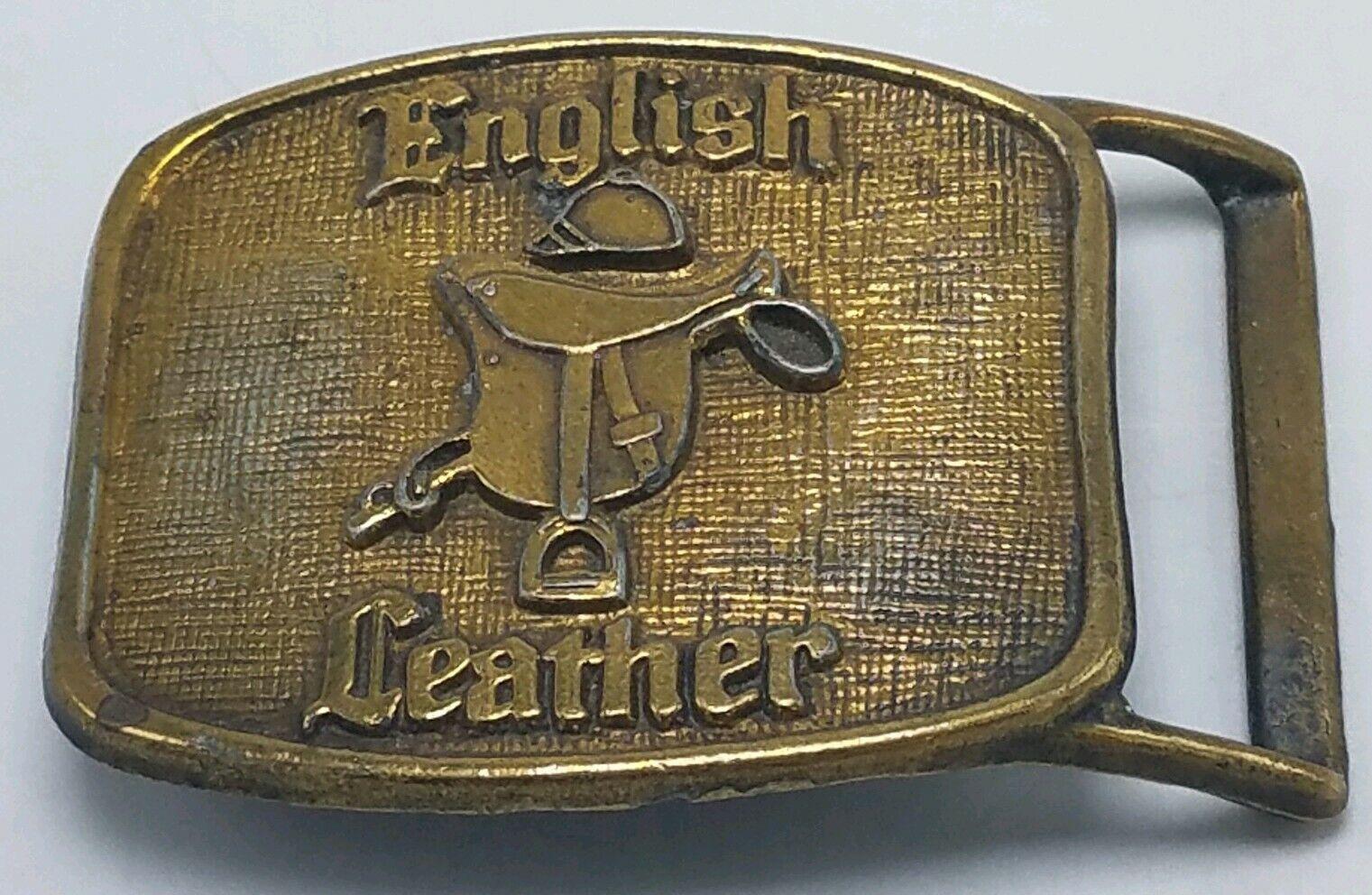 English Leather Vintage Herren Messing Gürtelschnalle Sattel Sehr Gute Zustand