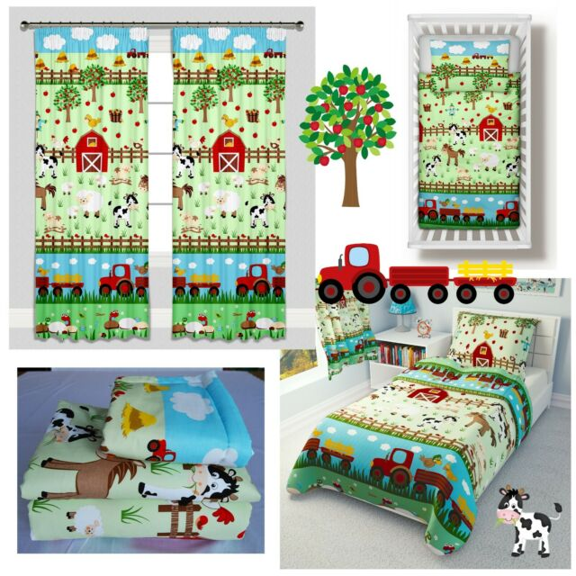 Mamas Papas Coverlet For Cot Bed, Farm Toddler Bedding Sets