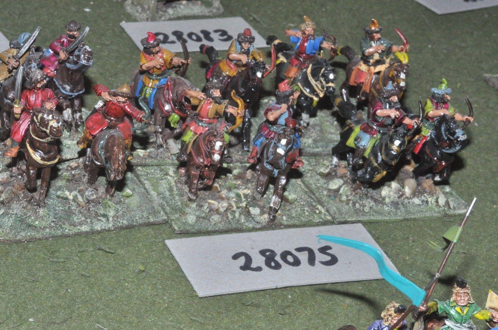 25mm Renacimiento Turco-caballo arqueros 12 figuras-CAV (28075)