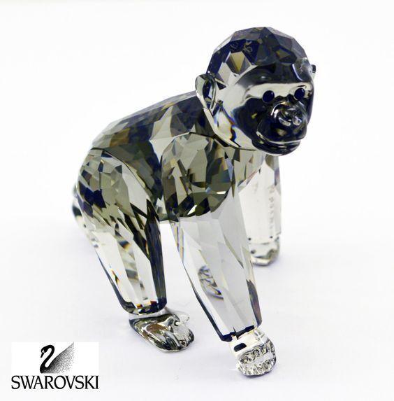 Swarovski Crystal Figurine ARTIST HAND SIGNED GORILLA CUB SCS SCS SCS Piece #955440 | Couleur Rapide  e51263