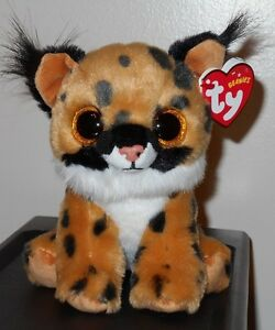 3f69bd5508e Ty Beanie Baby ~ LARRY the Lynx   Cat (6 Inch Size) NEW MWMT ...