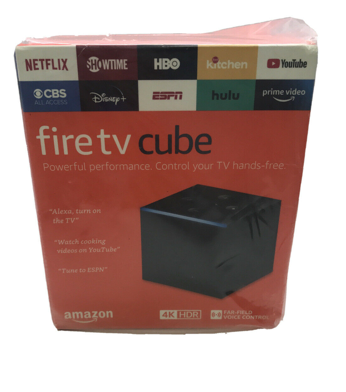 Amazon Fire TV Cube 4K 2nd Gen Streaming Media Player 16GB 16gb 2nd amazon cube fire gen media player streaming