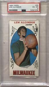 1969 Topps Basketball #25 Lew Alcindor RC PSA 4