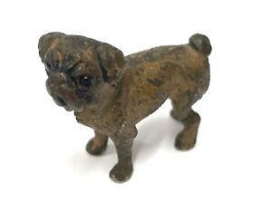 Antique Austrian Cold Painted Bronze Dog Pug GESCHÜTZT In The Style Of Bergman