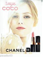 PUBLICITE ADVERTISING 066  2011   Chanel maquillage & Vanessa Paradis Rouge Coco