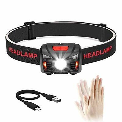 Stirnlampe LED Taschenlampe Kopflampe Headlight Campen Joggen USB Scheinwerfer .