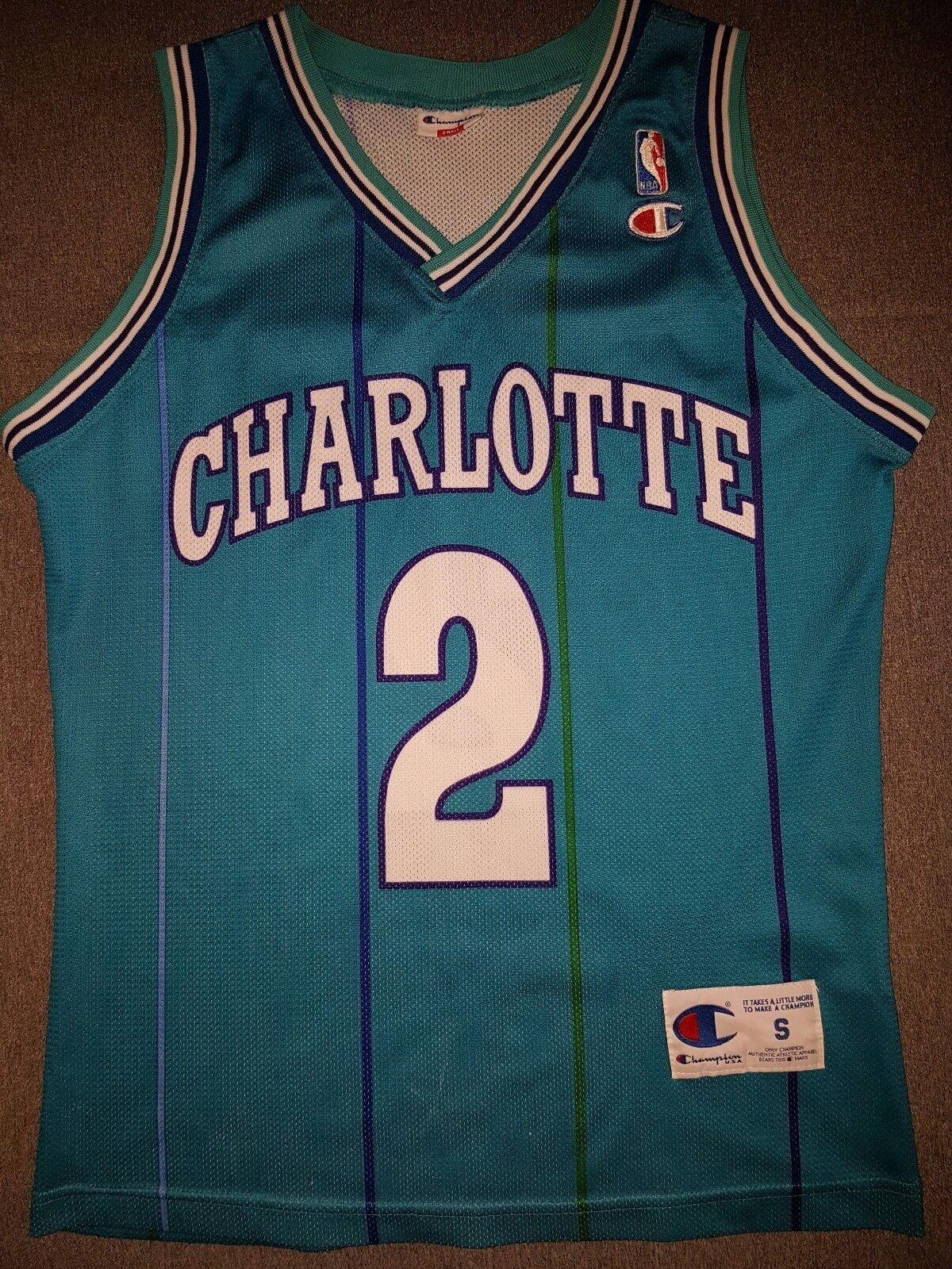 Charlotte Hornets NBA Trikot usa trui Larry Johnson originele kampioen S selen