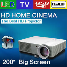 RD801 mini full hd LED Projector Home Cinema Theater 2200 Lumens 200 inch projec