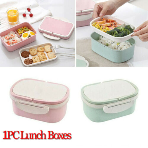 Lunch Box Tragbare Picknick Mikrowelle Bento Food Snack Obst Vorratsbehälter