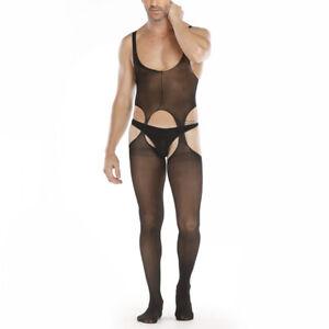 Men-039-s-Stocking-Bodysuit-Stocking-Underwear-Fashion-Bodycon-Sexy-Sleeveless