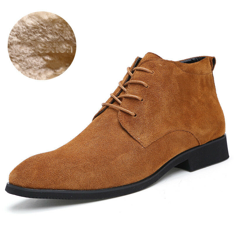 Cuero Genuino Hombres botas al Tobillo Hombres Cuero botas Altas Hombre botas Marrón