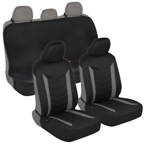 Super Details About Neoprene Car Seat Covers Front Stitched Black Gray Rear Bench Seat Protector Andrewgaddart Wooden Chair Designs For Living Room Andrewgaddartcom