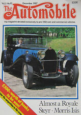 The Automobile magazine Vol.5, No.10 12/1987 featuring Bugatti, Morris, Steyr