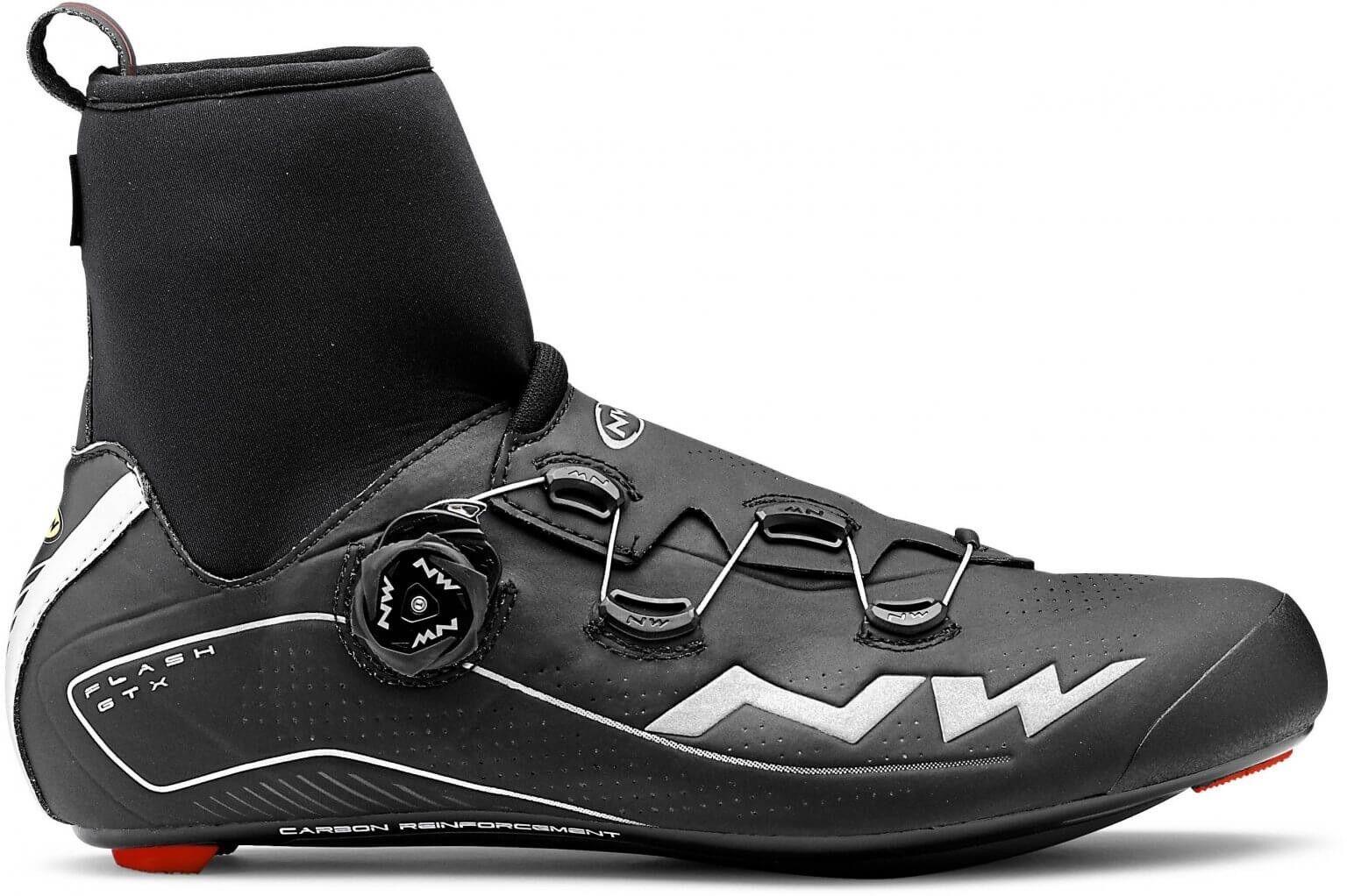 Schuhe NORTHWAVE ROAD FLASH GTX schwarz schuhe Northwave flash schwarz