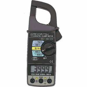 Details about kyoritsu 2007A Digital Clamp Meters AC A 600A NEW
