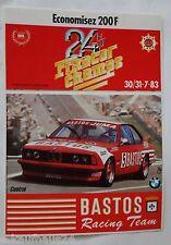 Aufkleber 24h SPA Francorchamps 1983 BMW 635 CSI E24 BASTOS Autocollant Sticker
