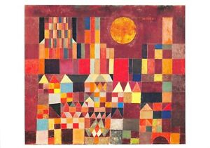 Art-Postcard-Castle-and-Sun-1928-by-Paul-Klee-66T