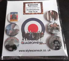 Quadrophenia : The Film 25mm Button Badge SetThe Who  (Mod / Scooter)