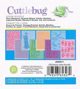 Cuttlebug asian embossing folders